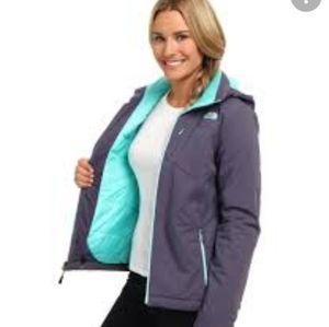 The North Face Womens Apex P Elevation Front Zip teal & purple Jacket